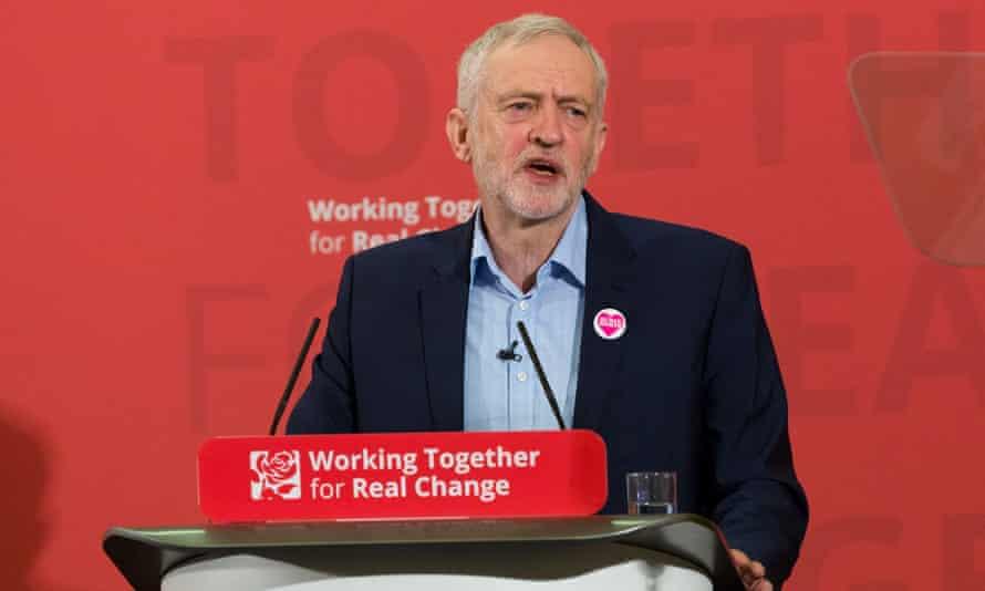 Jeremy Corbyn giving his human rights speech in London last week