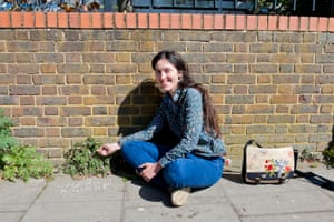 Sophie Leguil, founder of 'more than weeds', who chalks plant names on pavements in Hackney.