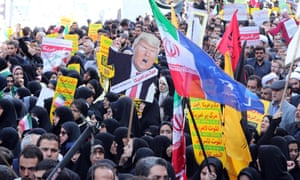 Anti-US protesters in Iran