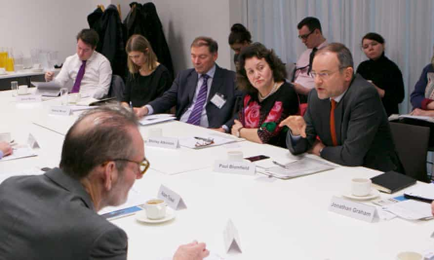 From left to right: Ian Diamond, David Morris, Helene Moran, Luke Georghiou, Shirley Atkinson, Paul Blomfield.