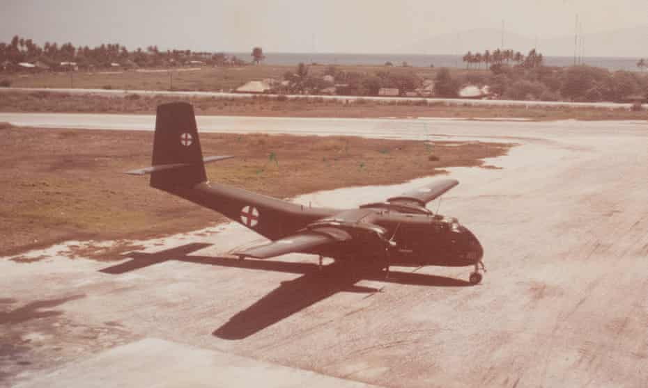 A Royal Australian air force Caribou at Dili airport 1975.