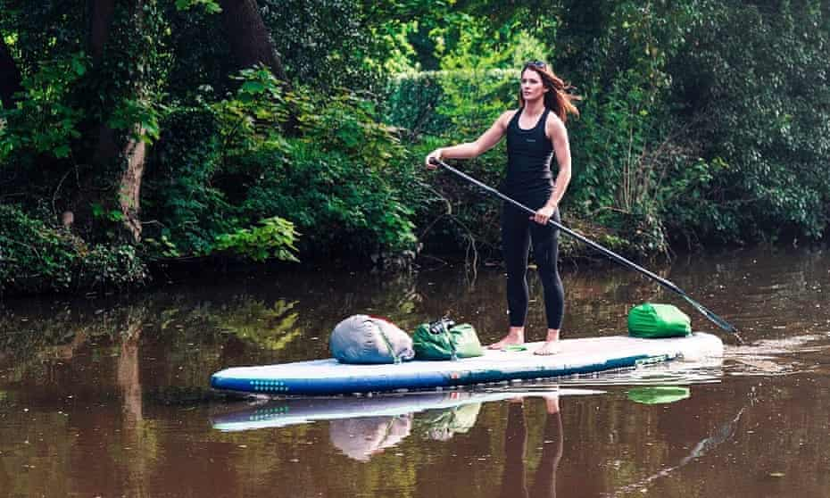 Lizzie Carr paddleboarded the length of England via its connected waterways, plotting and mapping out plastic pollution along her route.