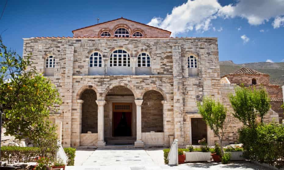 The church of Panagia Ekatontapiliani (Church of 100 Doors) in Paros, Greece