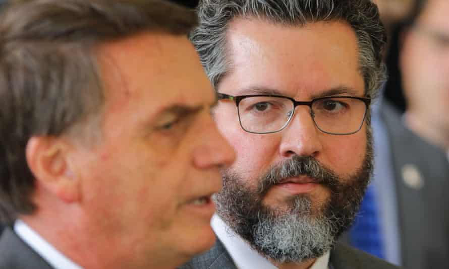 Ernesto Araujo, right, has been nominated by President-elect Jair Bolsonaro, left, to be Brazil's top diplomat. His appointment could undermine Brazil's leading global role on climate change.