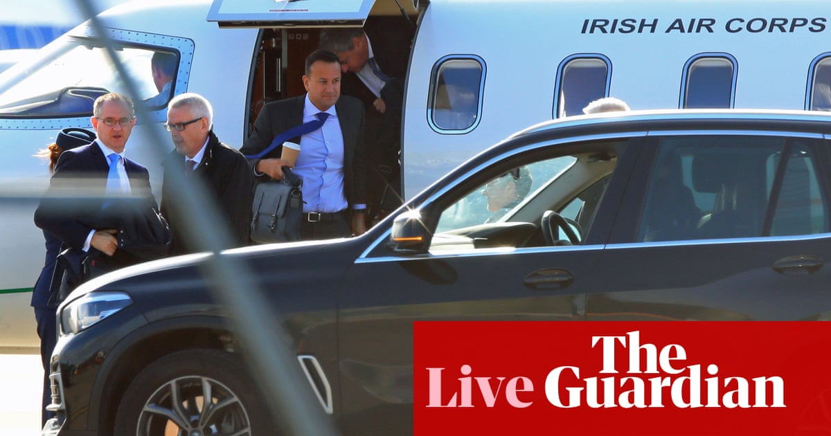 Brexit: Boris Johnson arrives at manor house in Wirral for private talks with Leo Varadkar - live news