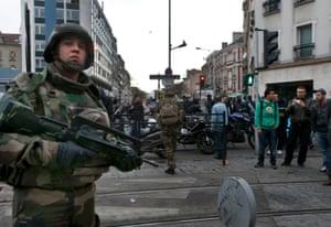 A 500-metre cordon was set up around the rue du Corbillon.