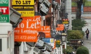 For Sale and To Rent signs on a row of houses in Selly Oak, Birmingham