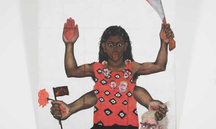 Housewives with Steak-knives by Sutapa Biswas, 1985