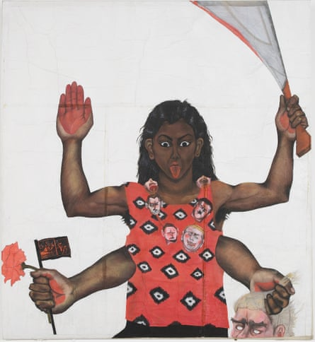 'It was spat on' … Housewives with Steak-Knives, by Sutapa Biswas, from the British Museum show.