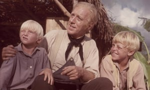 Max von Sydow with sons Henrik and Clas on the set of Hawaii in 1966 in which they played his on-screen son at different ages