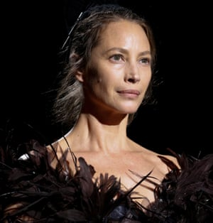 Christy Turlington on the catwalk at Marc Jacobs' show.