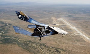 The VSS Unity on a test flight in May in New Mexico.