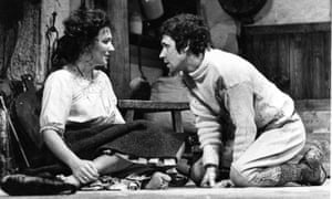 Stephen Rea with Susan Fleetwood in The Playboy of the Western World at the National Theatre in 1976