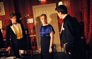 James Norton, Charlotte Lucas and Harry Hadden-Paton in Posh by Laura Wade, directed by Lyndsey Turner, in 2010.