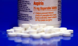 Aspirin bottle with pills