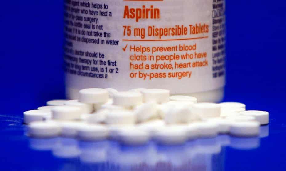 Aspirin bottle with pills