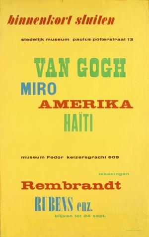 Poster, 1949. Courtesy of the Stedeiljk Museum Amsterdam