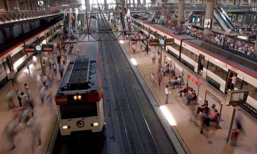 The Renfe train left the northern city of Santander on Tuesday, bound for Madrid.