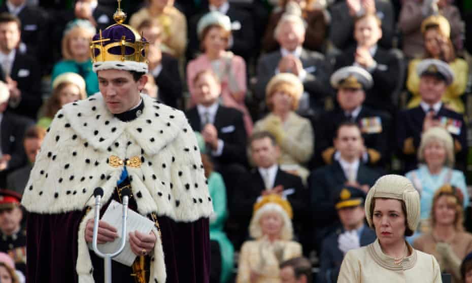 The investiture of Prince Charles, played by Josh O'Connor