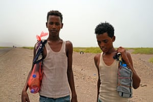 Fuad Abdullah, 25, from Jimma, and his companion Abdullah Ali, 19