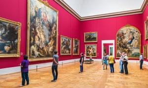 Rubens room in the Alte Pinakothek art gallery