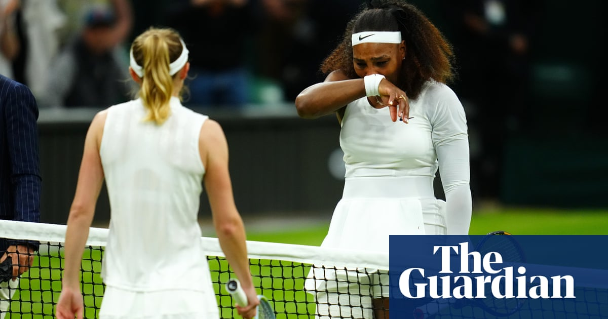Injured Serena Williams makes tearful early exit from Wimbledon