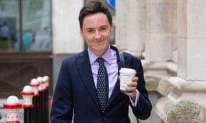 Darren Grimes outside the court in London