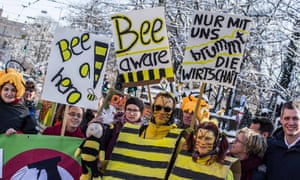 A 'save the bees' demonstration in Munich in February