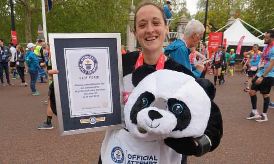 Kate Carter in her Panda costume