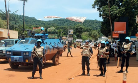 United Nations peacekeepers in the Central African Republic capital, Bangui