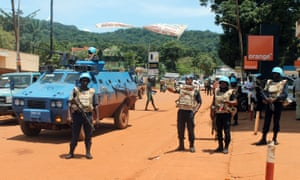 UN peacekeepers in Bangui, Central African Republic: the operation began in April 2014.
