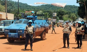 United Nations peacekeepers in the Central African Republic, where ethnic tensions have left 85 people dead.