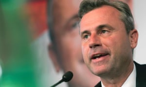 Austrian Freedom party presidential candidate Norbert Hofer