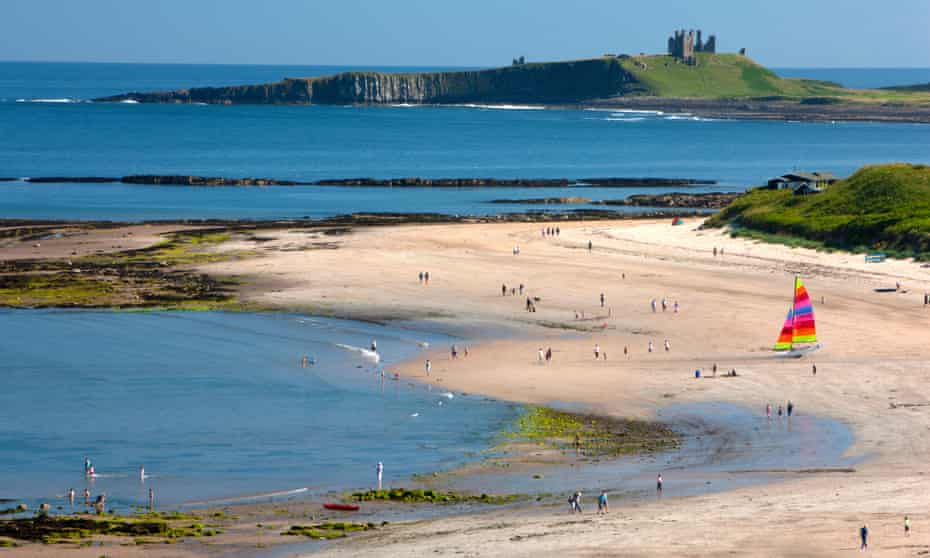 View from Low Newton-by-the-Sea towards Dunstanburgh Castle.