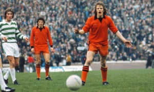 Kenny Dalglish and Andy Gray in the 1974 Scottish Cup final.
