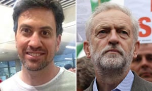 Ed Miliband and Jeremy Corbyn sporting beards.