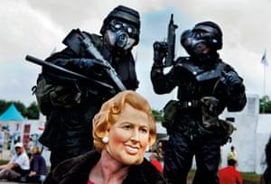 Margaret Thatcher at Glastonbury Festival, 2009
