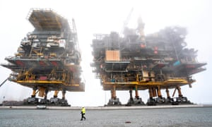 Frederikshavn, DenmarkThe Tyra East and Tyra West oil and gas processing platforms prior to being scrapped. For 35 years, the Tyra Field in the North Sea has been Denmark's largest supplier of natural gas.