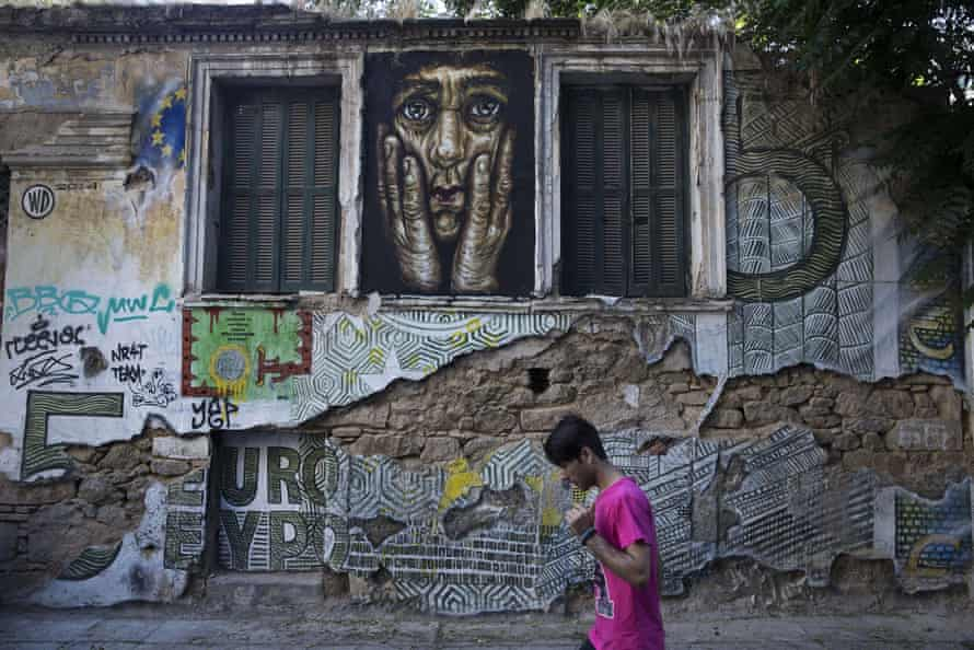 Artwork in Athens by street artist Wild Drawing