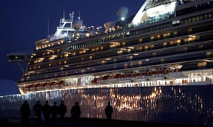 The coronavirus-hit cruise ship Diamond Princess.