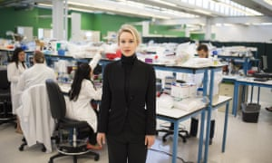 Elizabeth Holmes, founder and CEO of Theranos and subject of the film The Inventor: Out for Blood in Silicon Valley.