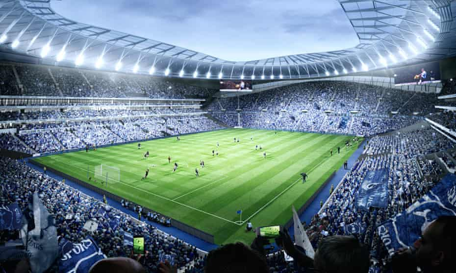 The standout highlight of Tottenham's new White Hart Lane is the 17,000-seat single-tier home end.