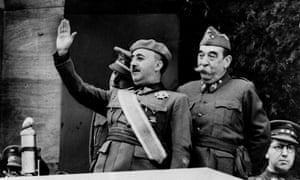 General Francisco Franco takes the salute of a quarter million troops during the nationalist victory parade celebrating the end of the Spanish Civil War on 20 May 1999.