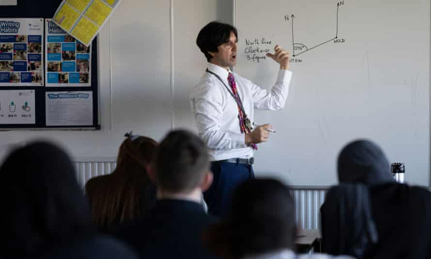 A maths lesson at Willows high school, Cardiff, in March.