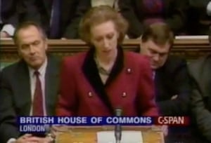 Margaret Beckett talks to the house after the death of John Smith MP