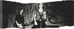 Klaus Fluoride and Jello Biafra of The Dead Kennedys perform at The People's Temple in 1978 in San Francisco, California.