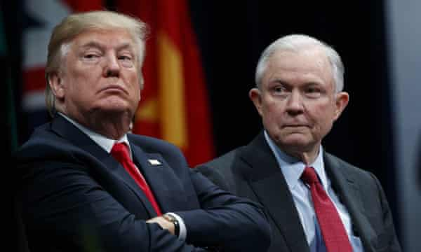 Donald Trump with attorney general Jeff Sessions.