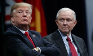 Donald Trump with his attorney general Jeff Sessions in Virginia.
