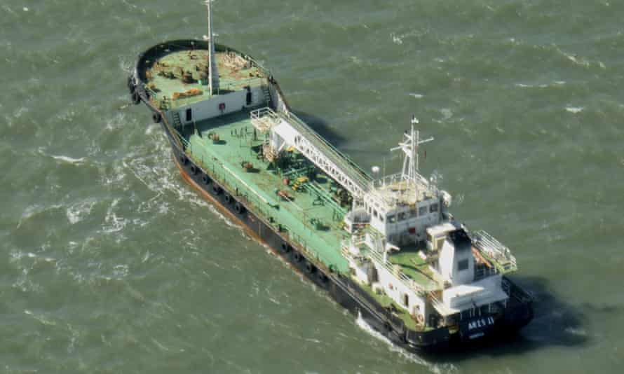 The Aris 13 oil tanker, pictured here in Australia, which was hijacked by pirates on Monday.