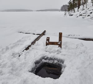 An ice hole to take dips.